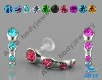 Crystal cartilage ear studs jewelry, ear studs piercing