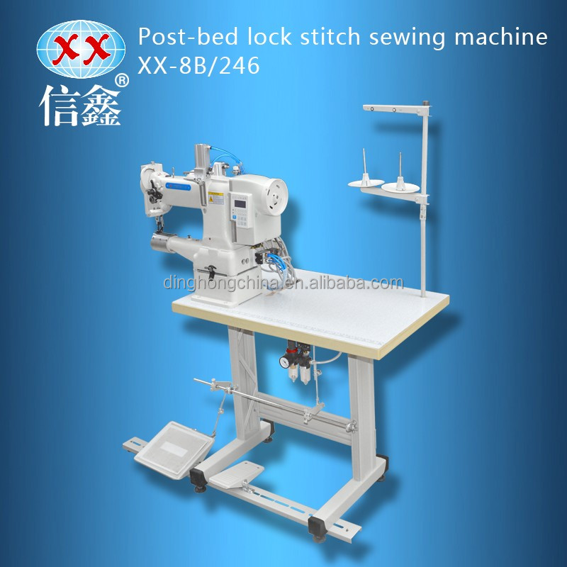 XX-8B/246 post-bed lockstitch shoe repair moccasin shoe upper sewing machine price for sale