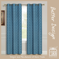 1PC BLACKOUT STOCK READY MADE CURTAIN, CORTINAS WITH GROMMETS