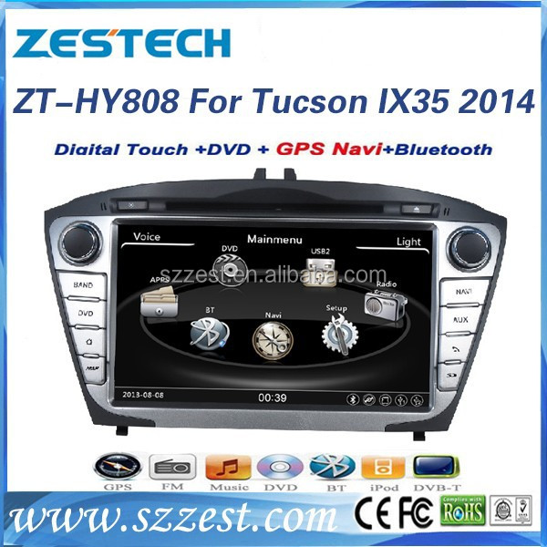 car gps dvd for Hyundai Tucson gps dvd 2014 with radio player A8 chipset ZT-HY808
