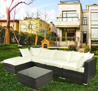 Outdoor Rattan Sofa Wicker Sectional Patio Garden Furniture set ships free