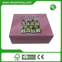 Custom Acrylic Wedding Invitation Card Box With Music