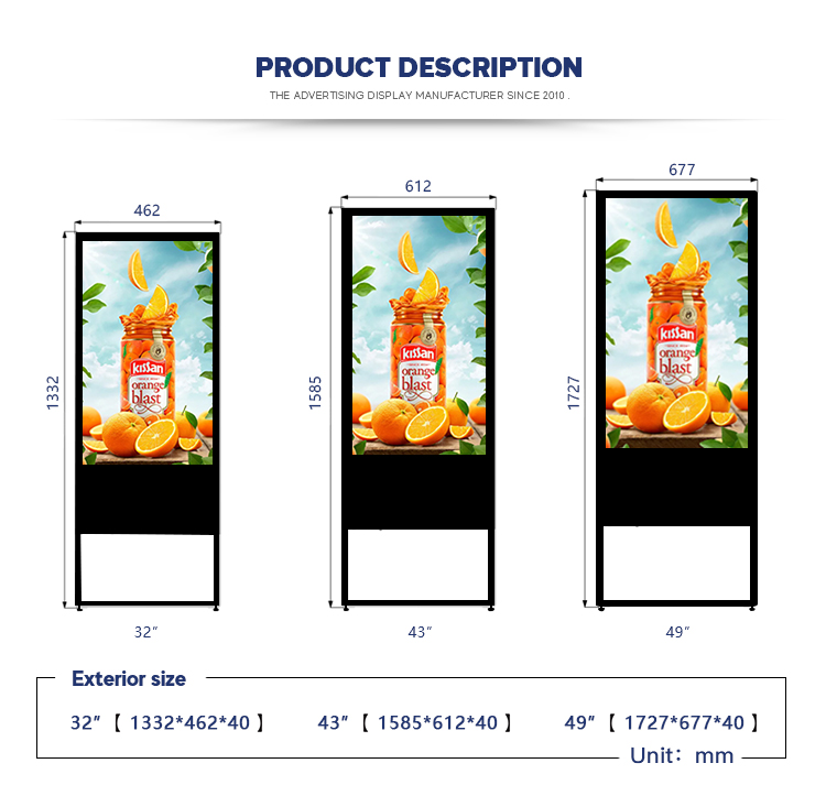 49 inch horizontale prachtig ontworpen android totem touch screen 4 k voor hotels