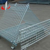 Foldable Stacking Stainless Steel Warehouse Cage Box