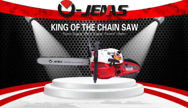 Ojenas high quality 68cc 3.2kw agriculture tools power garden chainsaw