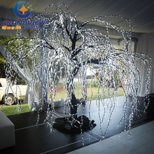 2015 outdoor artificial white lighted branch tree for hotel