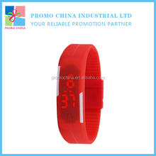 Most Popular Promotional Red Color Led Silicone Watch For Kids