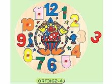 wooden clock for children education