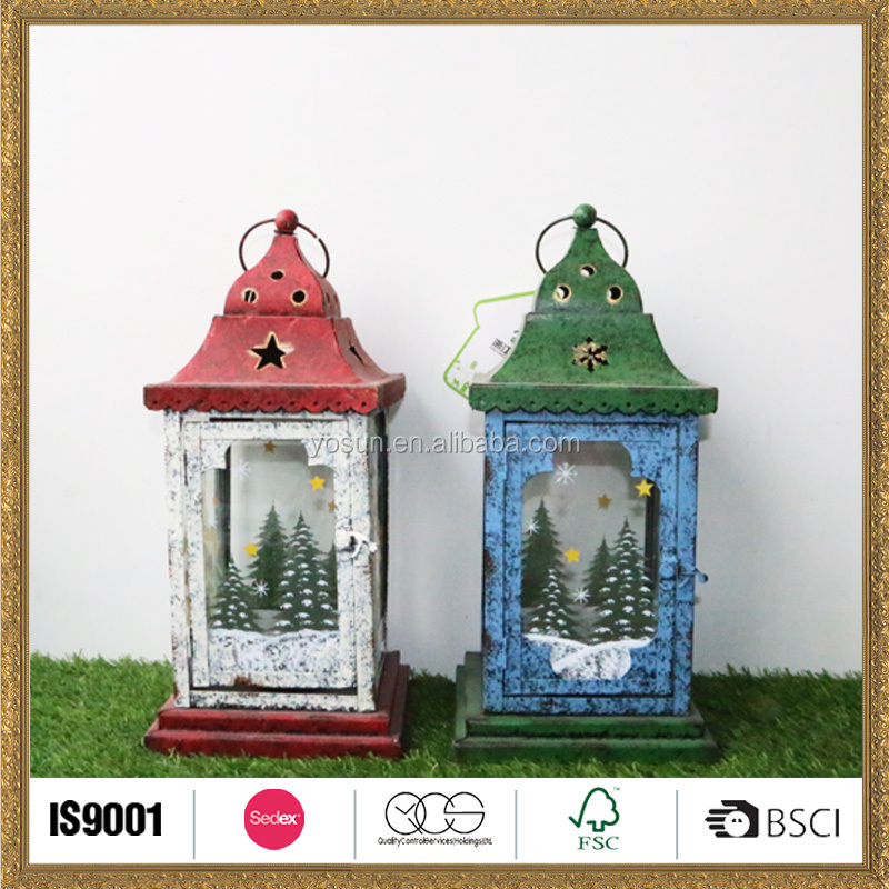 Professional Eco-friendly wooden lantern candle made in China