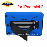 New Arrival Stand Silicone PC Case for iPad mini ii 2, Back Case Cover for iPad mini 2 Housing Case