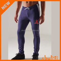 Mens soft skinny tight gym wear pima cotton jogger pants matching shirt and pants