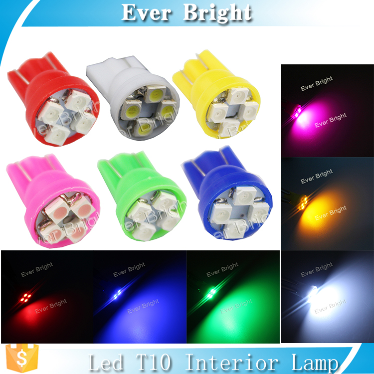 Hot 6v light wholesale T10 led 1210 4SMD mini led light 6v led auto bulbs