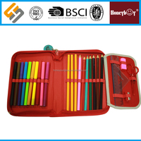 branded one zipper double sides pencil case