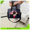 French fashion cartoon design lady leather handbag