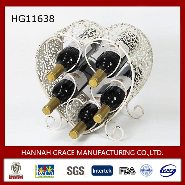 New Product Heart Wine Rack Wedding Decoration