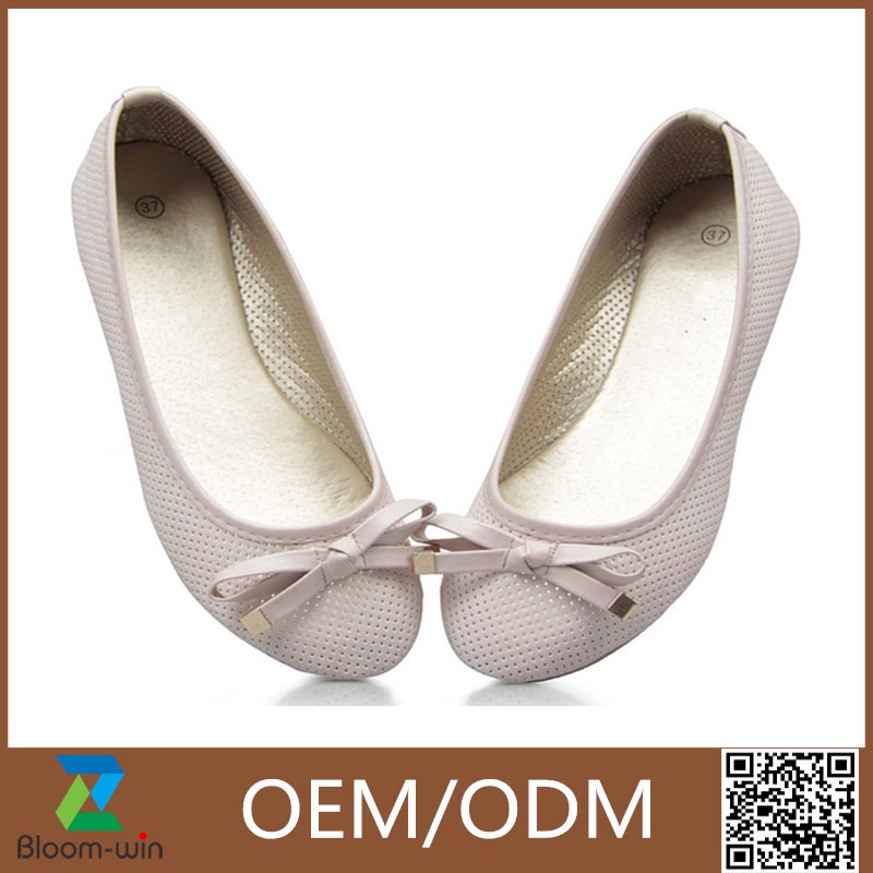 Promotional fiat pointy shoes with bowknot
