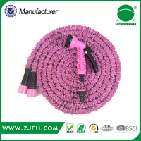 festival gift alibaba online shopping website pink color 50ft expanding garden hose pipe with sprayer
