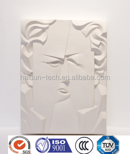 Carved artifical engineered stone wall panel home decor