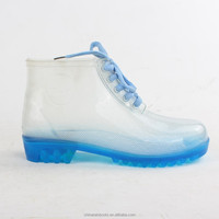 Wholesale men's Transparent Galoshes /Gumboots /Gumshoes, Candylear Jelly Wellington Rain Boots /Botas