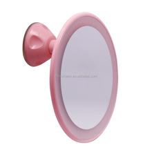 No Fog wall mounted suction cup shaving mirror with led lighted