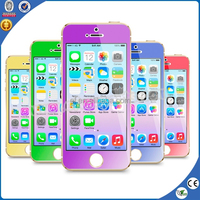 0.2mm 2.5d color tempered glass screen protector for iphone 6 5