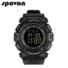 Men's Military Sports Digital Watch Survival Compass LED Screen 50M Waterproof Stopwatch Alarm Wristwatch