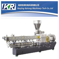 filler masterbatch air cooling hot face Twin screw plastic cutter machine
