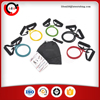 11PCS RESISTANCE BANDS EXERCISE FITNESS HOME GYM WORKOUT YOGA PILATES TUBE SET