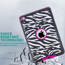 3in1 Tough Strong anti Shock Armor Combo Rugged TPU and PC Cover for iPad Mini 4 Case