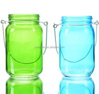 Fancy Colored Hanging Candle Mason Jar Lanterns Cheap Price Lantern