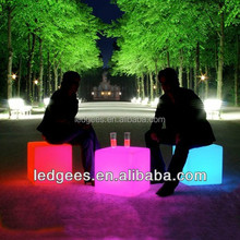 Romantic LED Beach Chair LED <strong>furniture</strong> and furnishing-small seat LED light cube