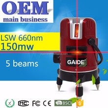 5 red lines laser rotary level machine tools construction with googles
