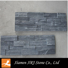 Natural stone exterior wall cladding black stone wall cladding