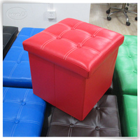 Luxury wholesale inflatable leather pouf,pouffe,storage stool