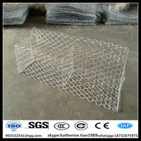 2x1x1m Hot dipped galvanized anping hexagonal mesh gabion defense box