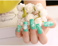 DIY nail art design handmade with nail sticker