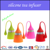 OEM/ODM heat resisting silicone tea infuser silicone with stainless steel tea infuser