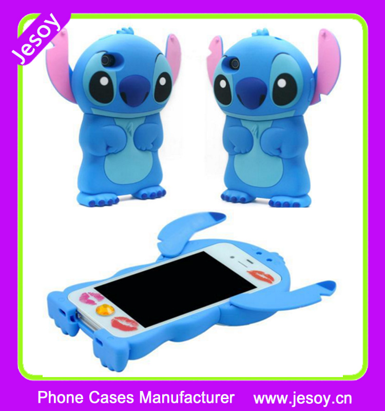JESOY Printable For iPhone 6 Eco-friendly Hard Silicone Case 3D Cartoon Stitch Cell phone case