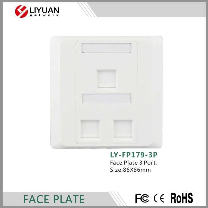 LY-FP179-3P liyuan 3 Port network Face Plate