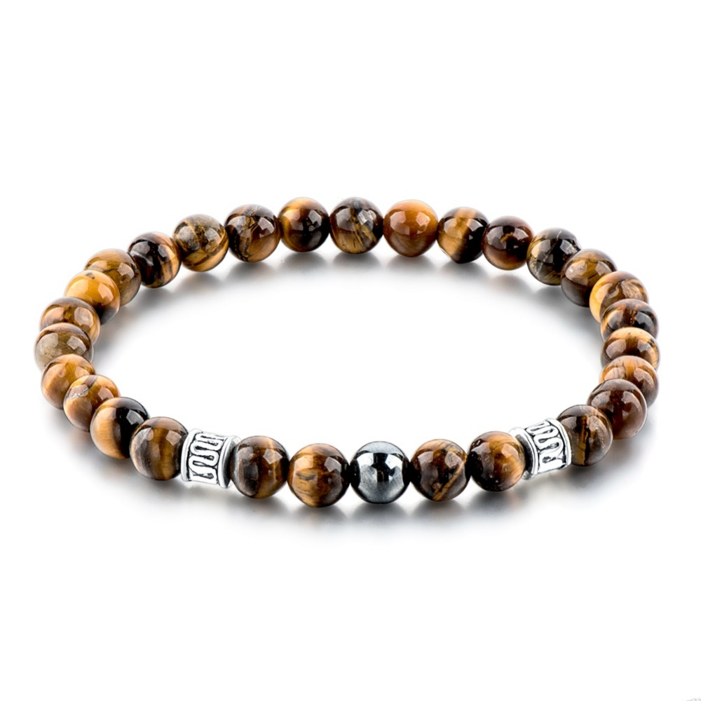 Stones And Bones Tiger Eye Stone Bracelet