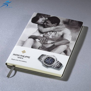 fashion cheap leather cover beauty advertising notebook