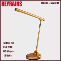 UL CUL Listed Polished Brass Metal Clamp Piano Lamp With Adjustable Flexible Arm