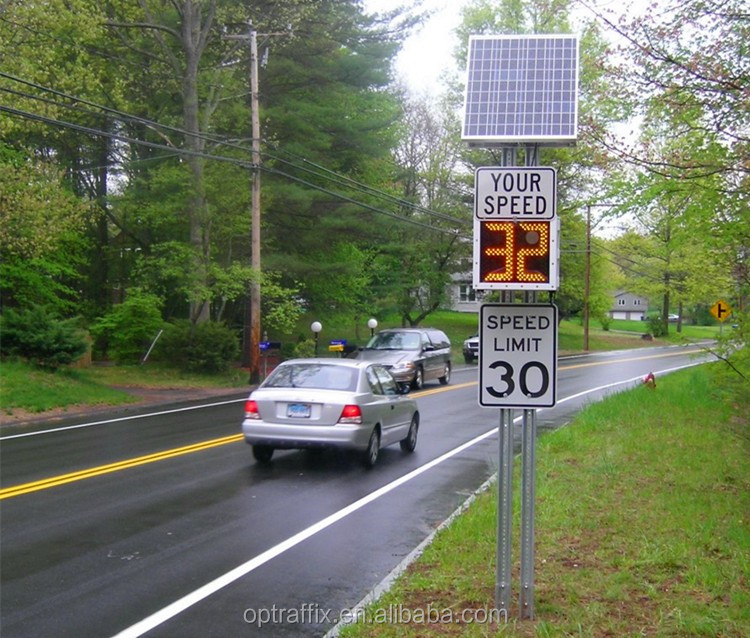 Optraffic Outdoor Led Warning Sign Solar Powered Portable Traffic Led Speed Limit Sign,Flashing Radar Speed Sign - Buy Speed Limit Sign,Led Speed Limit Sign ...