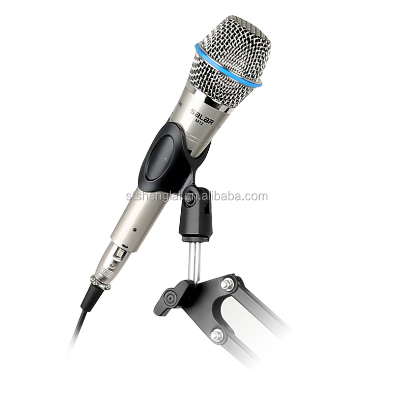 Best selling portable handheld M12 grey spary paint wired microphones for meeting