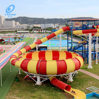 Professional bowl fiberglass water slide for sale