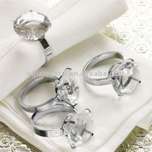 Wedding Clear Crystal Napkin Ring