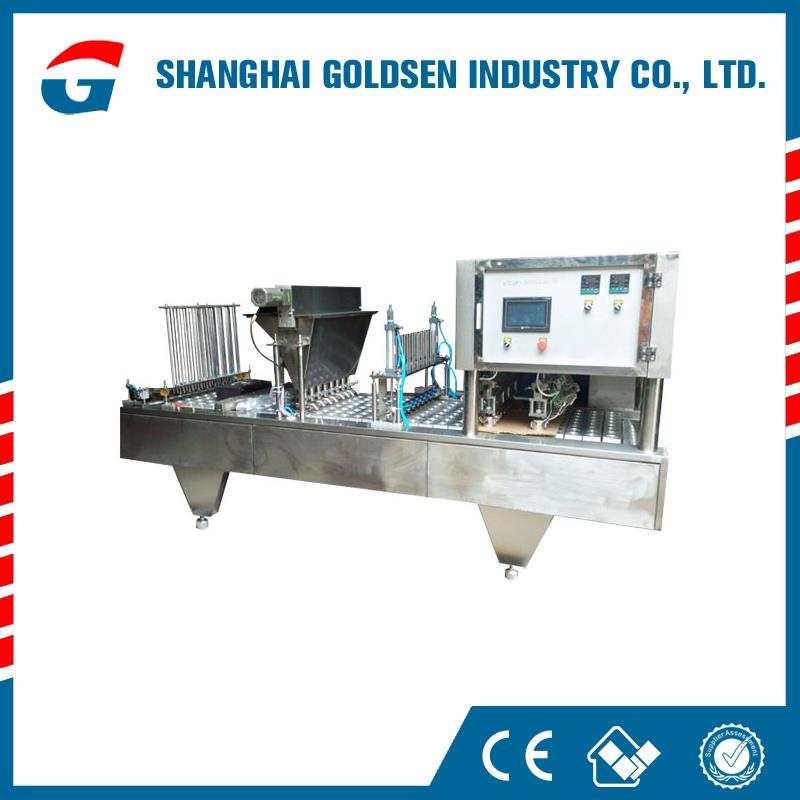 Low price milk filing and sealing machine,automatic ice cream cup filling machine.paper cup milk filling and sealing machine