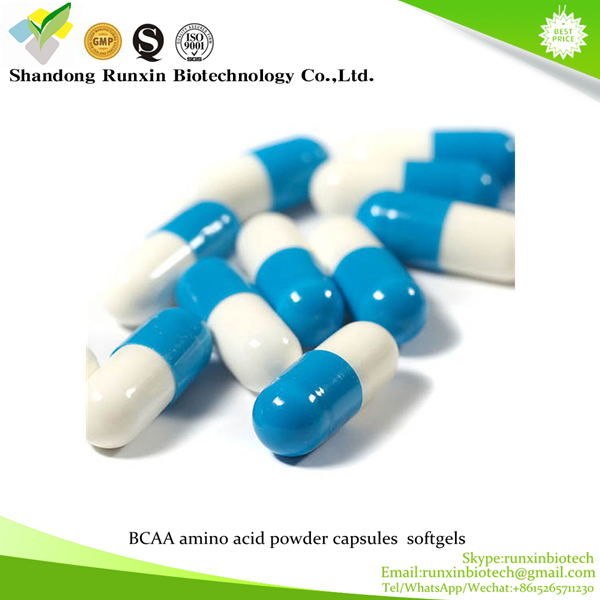 New product GMP certificated BCAA amino acid powder capsules softgels tablets