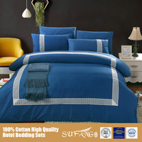 Cheap Price Wholesale Home Textile Bedding Linen/Pure Color Lace Border Bed Comforter Sets, Polyester Filling