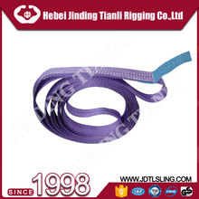 CE approved 5 : 1 safety factor webbing sling adjustable belt
